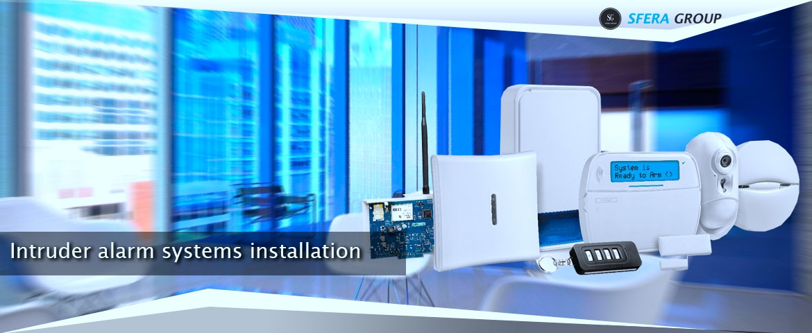 Intruders alarm installation