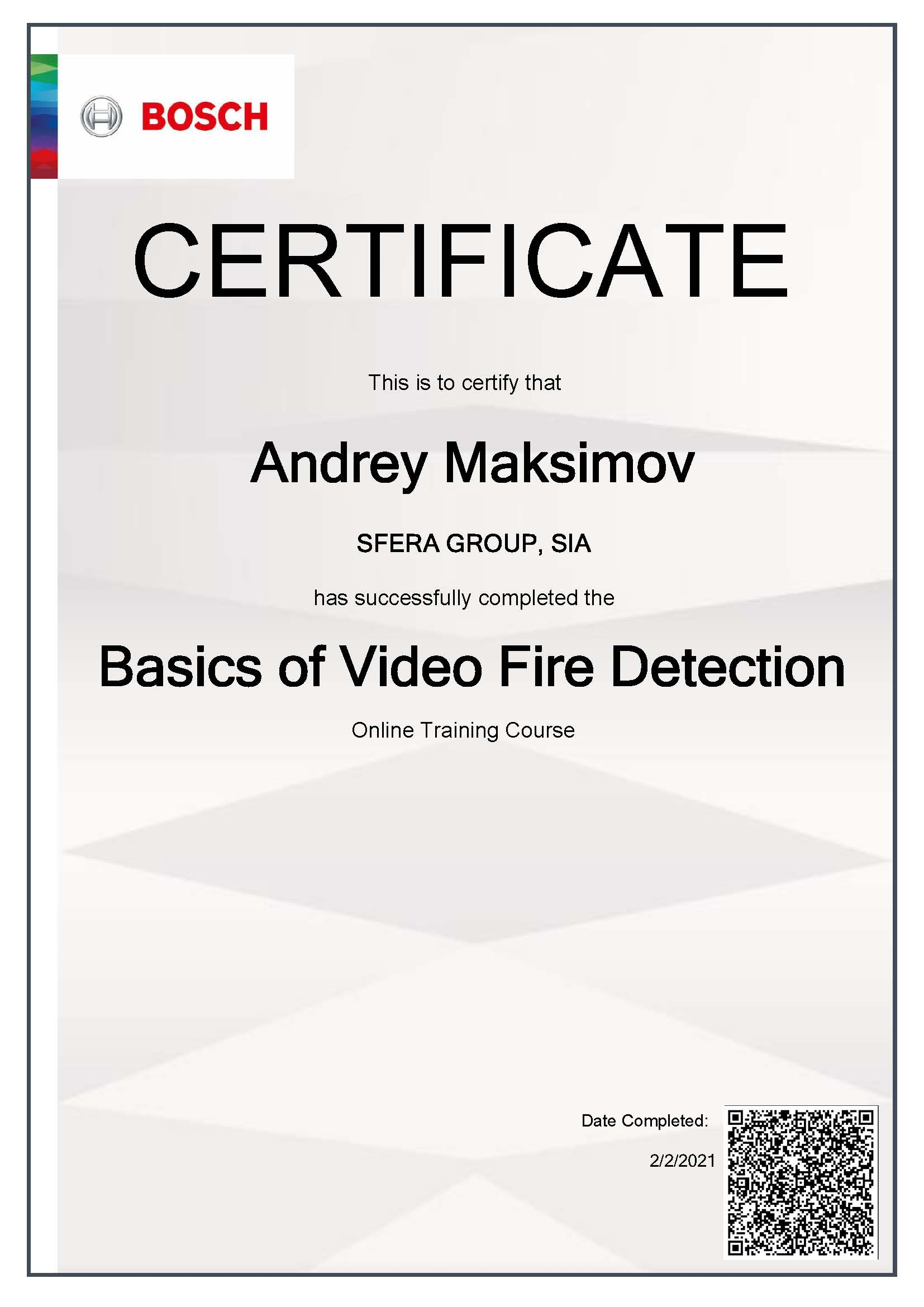 Bosch Basics of Video Fire Detection