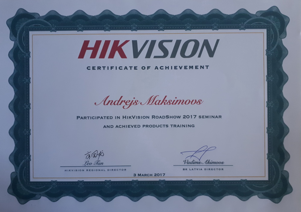 HIKVISION RoadShow Training